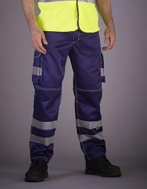 High Visibility Cargo Trousers with Knee Pad Pockets
