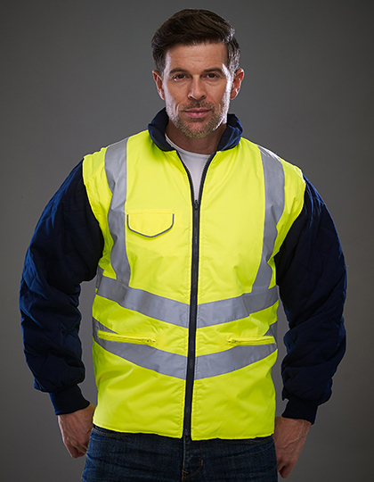 Hi-Vis Chevron Quilted Jacket